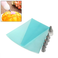 Silicone DIY Icing Piping Cream Pastry Bag+6 Nozzle Cake Decorating Tool+Coupler