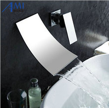 2Pcs Bathroom Wall Mounted Bathroom Tap Sink or Bathtub Faucet Chrome 1 handles Faucet PA-18