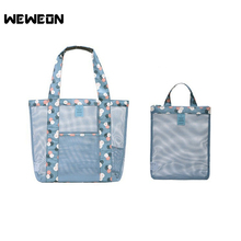 Best Seller New Sports Bag Summer Swimming Beach Bag for Shoes Swimsuit Package Mesh Gym Handbags Swim Wash Tote Fitness Handbag(China)