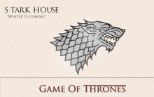 Game Of Thrones Stark flag 3x5ft 100D Flag Games suits decorate free shipping 871