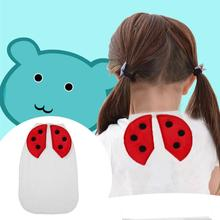 Breathable Four Layers Cotton Gauze Ladybird Pattern Sweatbands Baby Towel Infant Bibs Burp Cloths Kids Sweat Absorb Back Towel(China)