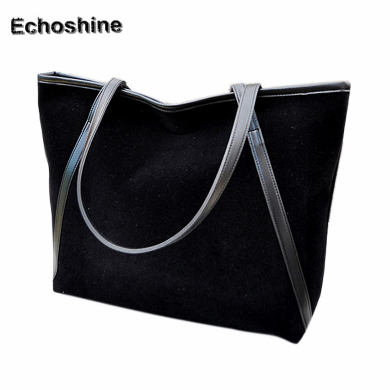 2016 popular New Simple Winter Larger Capacity Leather Suede Women Bag Messenger Large Tote Ladies Purse gift wholesale <br><br>Aliexpress