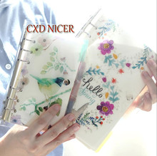 Iron Spiral Fairy Tale And Bird Notebook Planner A5 A6 Pvc Cover Stationery 2018 Notebook Agenda Creative China Supplies DD1959(China)