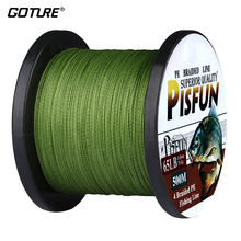 Goture 500M/547Yds PE Braided Fishing Line Multifilament Super Power Japan Cord Wire Rope For Carp Fishing 14-80lb(China)