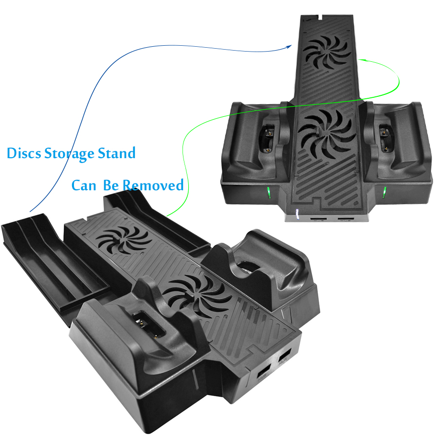 Vertical-Cooling-Stand-Cooler-Fan-for-Xbox-One-X-Controller-Charger-with-2-HUB-Ports-Discs (3)