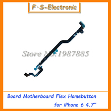 "10pcs/lot Free shipping Long Home Button Main board flex cable for iPhone 6 4.7"" Inch Motherboard connector flex cable"
