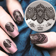 Butterfly Lace Spring Nail Stamping Plates Queen Rose Nail Art Stamp Plate Nail Design Nail Image Plate Stamping Plate Manicure
