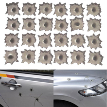 24/6/15 3D Bullet Hole Orifice Sticker Graphic Decal Shot Hole Motorcycle Car Auto Helmet Window Hood Side Door Funny DIY Decals