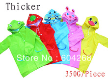 (350G/Piece)  Free Shipping Kids Rain Coat children Raincoat Rainwear Rainsuit,Kids Waterproof Animal Raincoat 1pc/lot