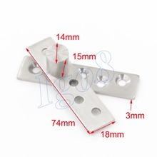 360 Degree 74mm x 18mm Door Pivot Hinges 2PCS