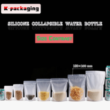 5 pcs 18x26cm Customize Matt Finished Plastic Food Bags Stand up Zip Lock Snack Bag