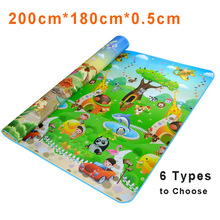 Child Large Play Mats Crawling Mat Floor Blanket Children Carpet Infant Rug Mats For Kids Baby Playmat Children Room Carpet Bebe(China)