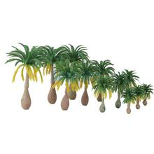 12pcs Layout Model Train Coconut Palm Trees Rain Forest Scale 1: 100-1: 250