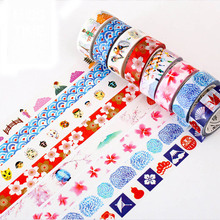 DIY Cute Kawaii Japanese Washi Tape Lovely Flower Decorative Masking Tape For Home Decoration Free Shipping 3008