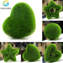 Hot Sale Fashion Artificial Fresh Moss Balls Green Plant Home Party Decoration(China)