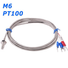 M6 Screw Type PT100 RTD Resistance Temperature Detector Thermal Sensor 3 Wires Cable for Boiler Oven Temperature Controller(China)