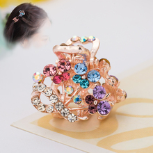 Hair Ornaments Claw Headwear Accessories Imitation Crystal Metal Hair Claws Clip for women Girls Crab Fahion Claw ULET Hair Clip