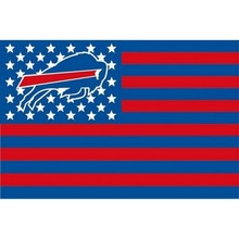 Buffalo Bills Flag stripes banner 150 X 90 cm banner brass metal holes flag(China)