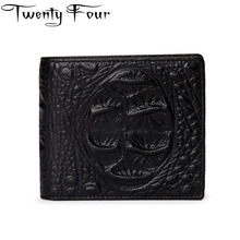 Twenty-four Crocodile Wallet Men Genuine Leather Cowhide Male Coin Purse Money Long And Short Wallet With Alligator Handy Purse