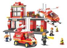 Sluban B0225 City Fire Engine Helicopter 119 emergency Building Block Sets Figures Gift Compatible With Lepin