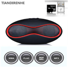 Tiandirenhe Rugby Football Caixa De Som MINI X6 Bluetooth Speakers Stereo Handsfree Sound Box crack Speaker Support TF Card USB