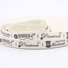 Handmade HOME SEWING Printed Cotton Webbing Zakka Sewing Label Cotton Fabric Printing Sewing Tape Ribbons For DIY Apparel Sewing(China)