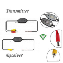 New 2.4G Wireless Transmitter and Receiver Video adapter Car Rear View Cam Vehicle Reverse Parking backup match GPS Navigation(China)