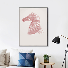 Modern Simple Abstract Curve Horse Portrait Poster Image Art Canvas Print Living Modern Home Living Room Bedroom Decoration