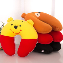 Cute traveling U shape pillow comfortable neck pillow micro snow beans inflatable pillow(China)