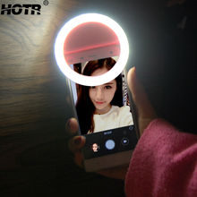 Lightning Flash Selfie LED Flash Light Bright Fill-in-light Smartphone Clip Synchronous Auto Flash Speedlite for iPhone Xiaomi