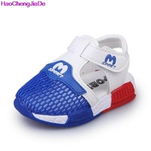HaoChengJiaDe Summer Boys Sandals Shoes Breathable Mesh Girl Kids Mesh Sport Shoes Girls Beach Sandals Children Soft Sneakers