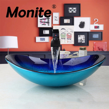 Fast Free Shipping Bathroom Unit Cloakroom wash Basin sink Bowl with ORB Mixer Faucet tap(China)