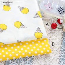 Cartoon Ice cream meter fabric 95% Cotton Fabric quilting Baby Cloth Kids bedding patchwork tissue home Textile Sewing fabric(China)