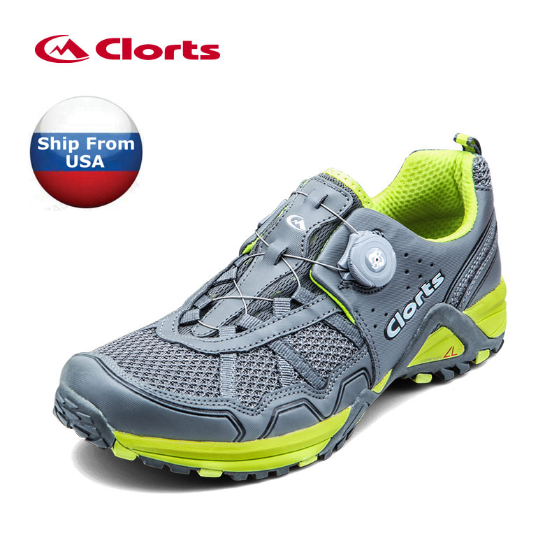 (Shipped From USA Warehouse)2017 Clorts Men Trail Running Shoes BOA Fast Lacing Sport Shoes Breathable Mesh Shoes For Men 3F013B(China (Mainland))