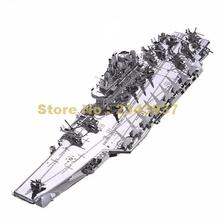 Metal 3d Piececool Aircraft Carrier Plan Liaoning P056-s Diy Toy Laser Cut Models Soldier Puzzle Toys