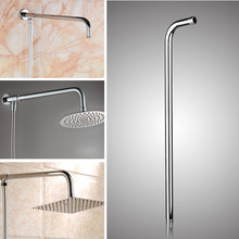 24inch Wall Mounted Stainless Steel Shower Extension Arm For Rainfall Shower Head Shower Arms Bathroom Tools Accessories
