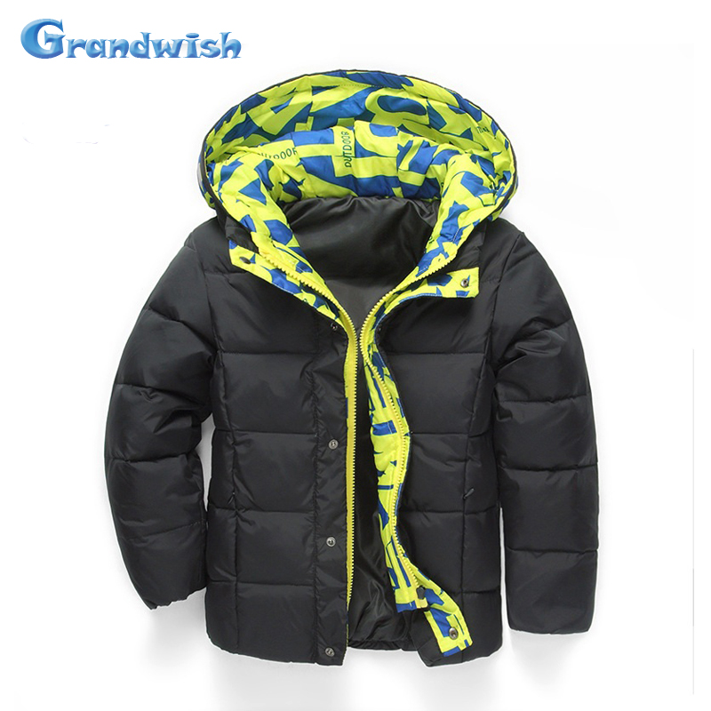 Grandwish Winter Hooded Jacket for Boys Kids Printed Thick Down Warm Coat Boys Jacket Girls Outerwear Clothes 6T-12T, SC364Одежда и ак�е��уары<br><br><br>Aliexpress