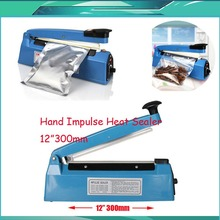 "12"" 300mm 400W Hand Manual Impulse Sealer Heat Seal Machine Poly PVC Plastic Shrink Vacuum Bag Film lips Sealing(China)"