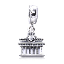 2017 Original 925 Sterling Silver ancient site love travel berlin tower Charms bead gift Fit Pandora Charm Bracelets DIY Jewelry