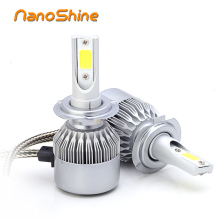 Nanoshine 2 pcs car headlight h7 led H4 H1 h8 h9 H11 9005 HB3 9006 HB4 72W automobile vehicle Headlamp front fog drl bulb lamp