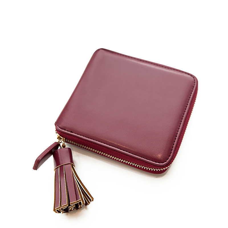 European and American Fasshion Tassel Women Wallet Small Leather Wallet Short Paragraph Fringed Coin Purse<br><br>Aliexpress