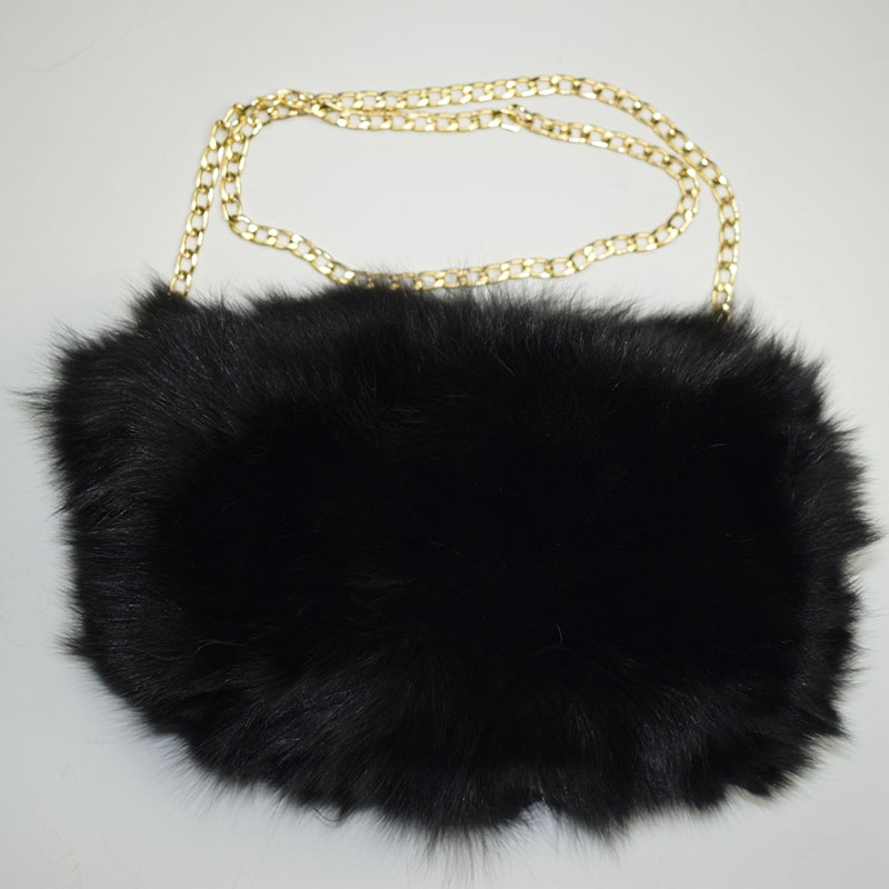 fox fur handmuff black 11