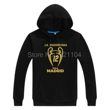 Asian Size 2017 real XII Champions League Winners 12 la Duodecima Hoodies Sweatshirt Men Hoodies cool printed for madrid fans(China)