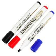 Deli Brand 1 Piece Low-Odor Dry Erase Markers, Dry Erase Whiteboard Markers, Fine Point 3 Color, 2.0 mm, Black,Blue,Red