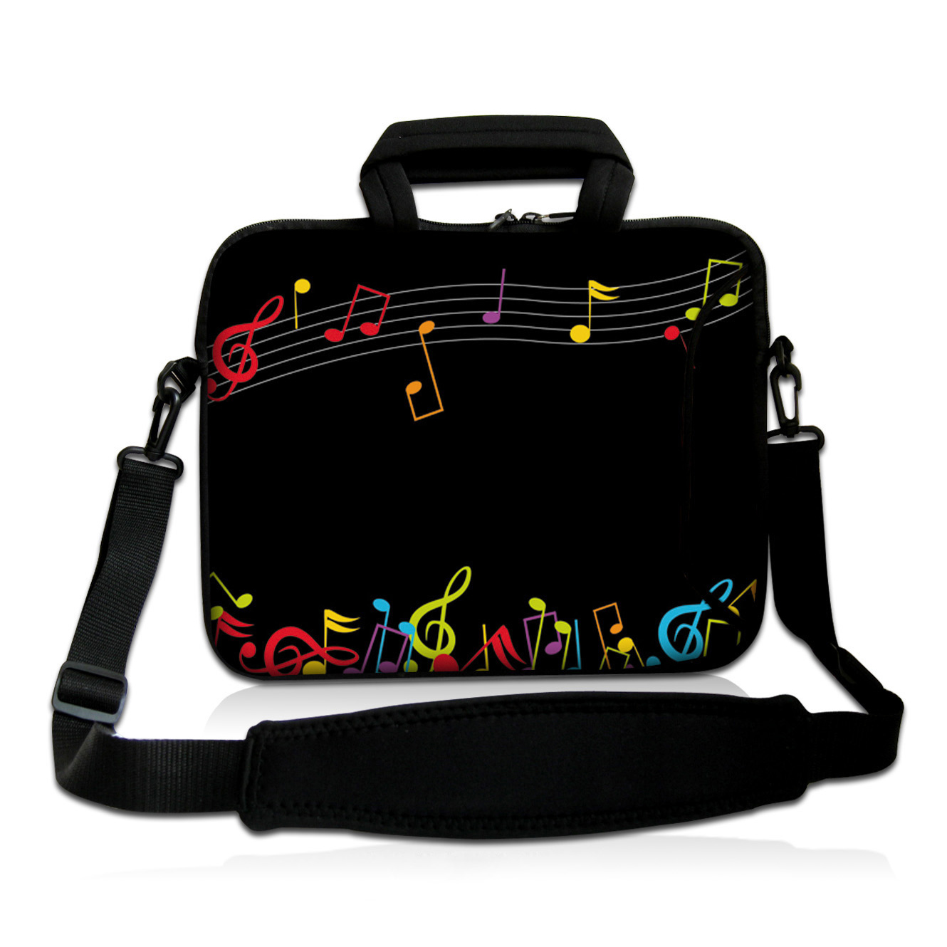 Music Time Neoprene 14 inch 14.1 14.2 14.4 Laptop Shoulder Strap Bag Briefcases Handle Notebook Messenger Cover Cases Pouch Hot<br><br>Aliexpress