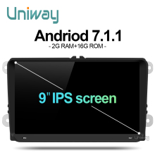 uniway ADZ9071 2 din 2G+16G android car dvd for vw passat b5 b6 golf 4 5 polo tiguan octavia rapid fabia with steering wheel