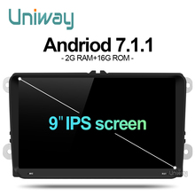 uniway ADZ9071 2 din 2G+16G android car dvd for vw passat b5 b6 golf 4 5 polo tiguan octavia rapid fabia with steering wheel(China)