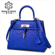 mengzhongmeng Ostrich leather women handbag Ostrich   leather women bag  single shoulder handbag