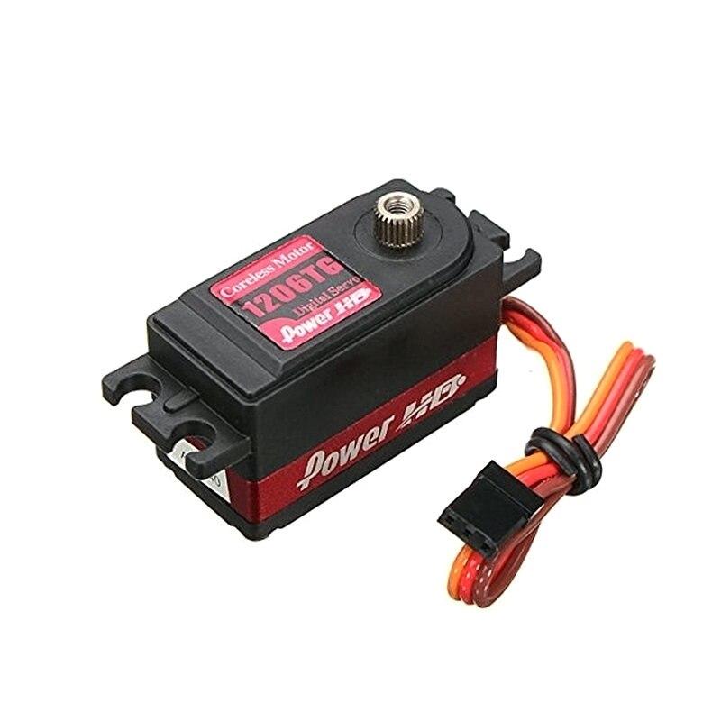 Power HD 1206TG 4.8-6.0V 7.0kg torque 0.06 sec high speed swift Digital Servo Metal Gear for RC Drifting Cars<br>