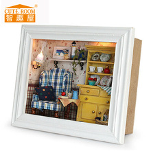 Cuterom Exquisite Microcosm World Manual DIY Handmake Miniature Dollhouse Wooden Frame Dolls House Furniture Kits Toy Gift(China)